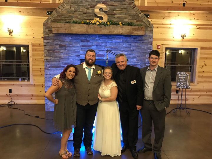 Ed & Katie with the Hot Trax Wedding Team @ Rolling Meadows Ranch