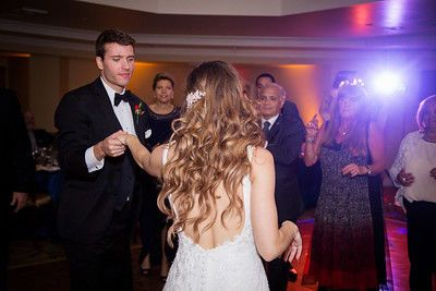 Newlyweds dance