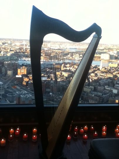 The harp in candle lights