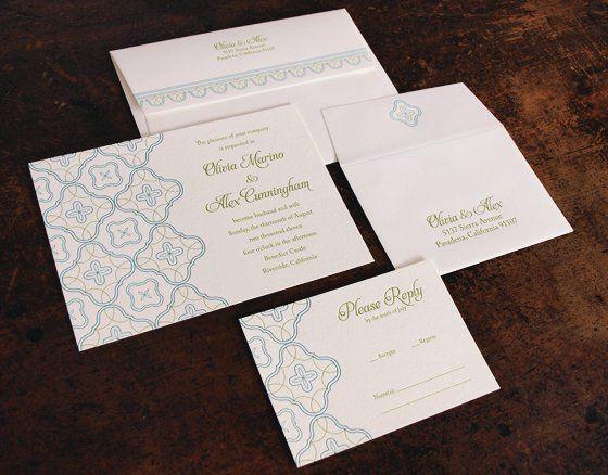 Oslo Press - Catalina letterpress invitation set