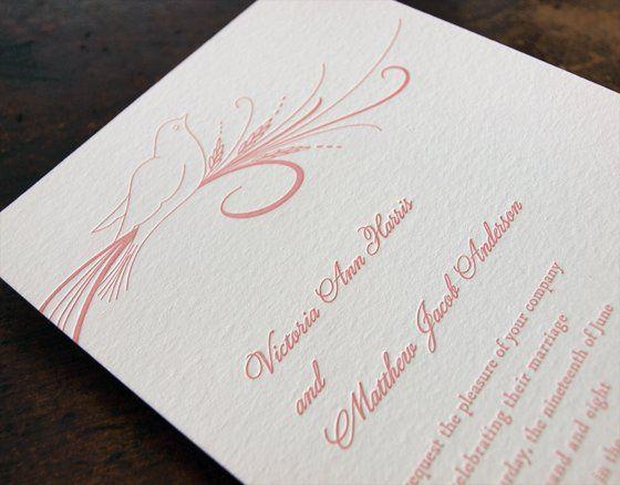Oslo Press - Dove letterpress invitation