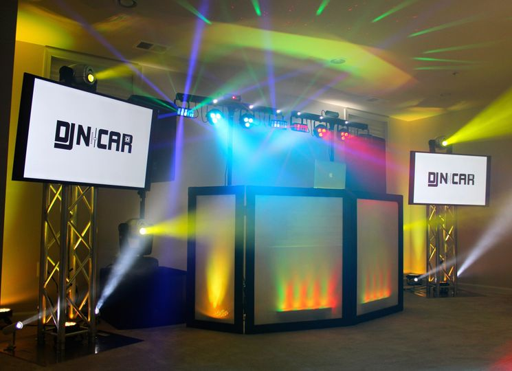 Our premium package includes a full professional sound system, cordless mic, dance lights, moving...