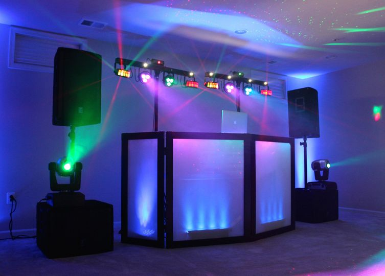 Our basic package contains a full professional sound system, cordless mic, dance lighting, moving...