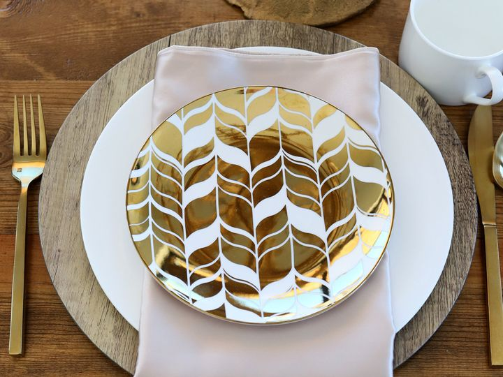 Tmx Gold Dishware Party And Events Salida Colorado 51 499974 Salida, CO wedding rental