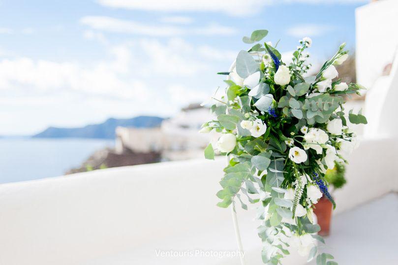 Santorini Wedding-Aisle ceremony decor