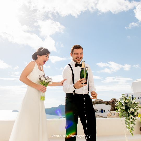 Wedding in Santorini- Ceremony