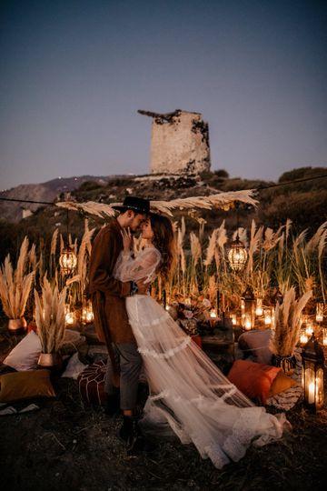Pampas destination wedding