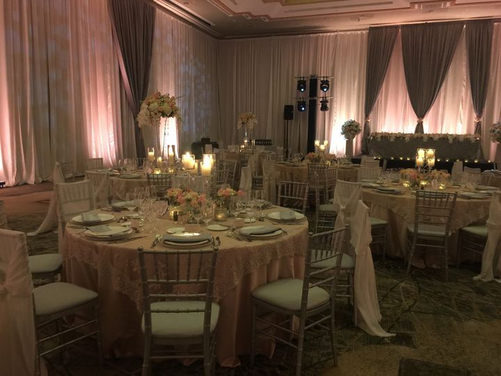 Pipe and Drape can really bring out the beauty of lighting & design