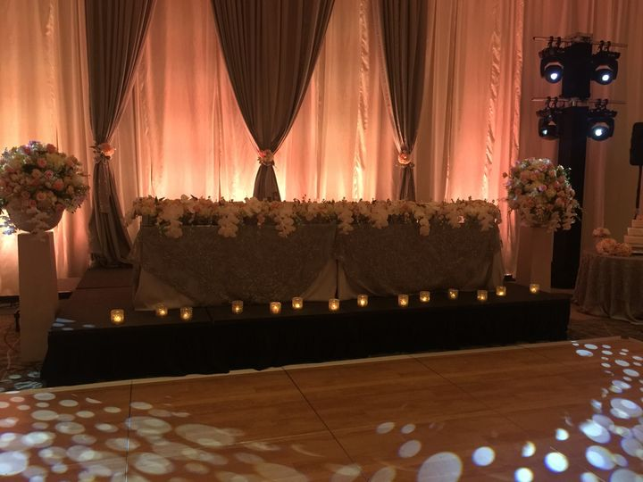 Any bride & groom would love this dais that included their bridal party
