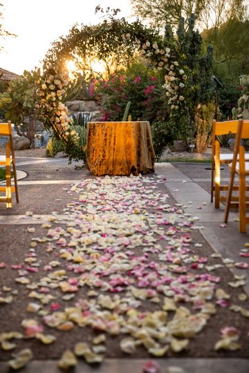 Canyon Suites Patio Ceremony