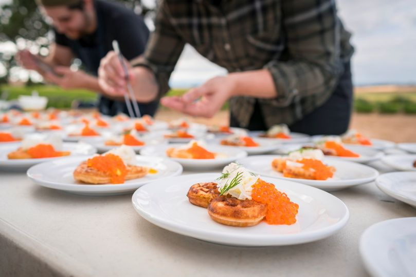 Catering in the vineyard