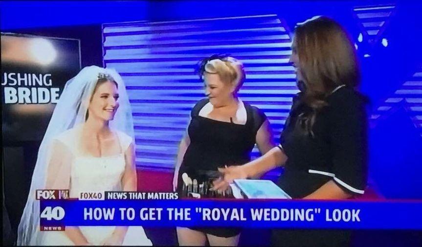 "FOX 40 News ""Royal Wedding Makeup"" segment"