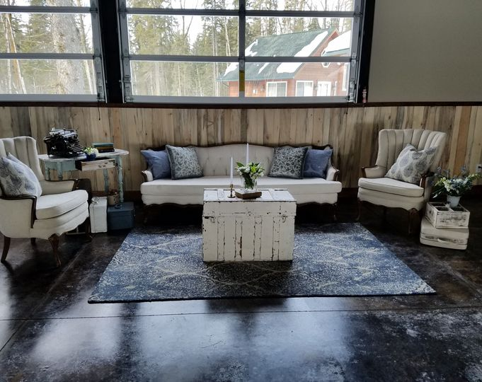 Seating areas add that extra touch to any event.