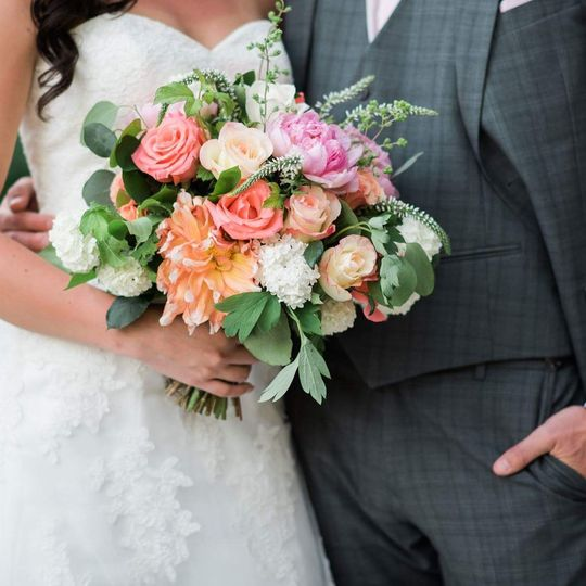 This couple....these flowers.