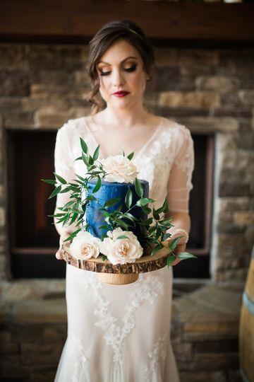 Flower cake for the bride