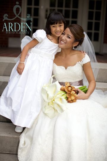 The bride and kid