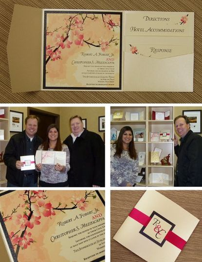 Chris & Rob picking up their Invitations for their Civil Union- May 14,2011
