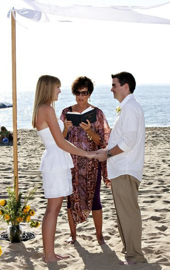 "One of many happy ""Beach Weddings""!"