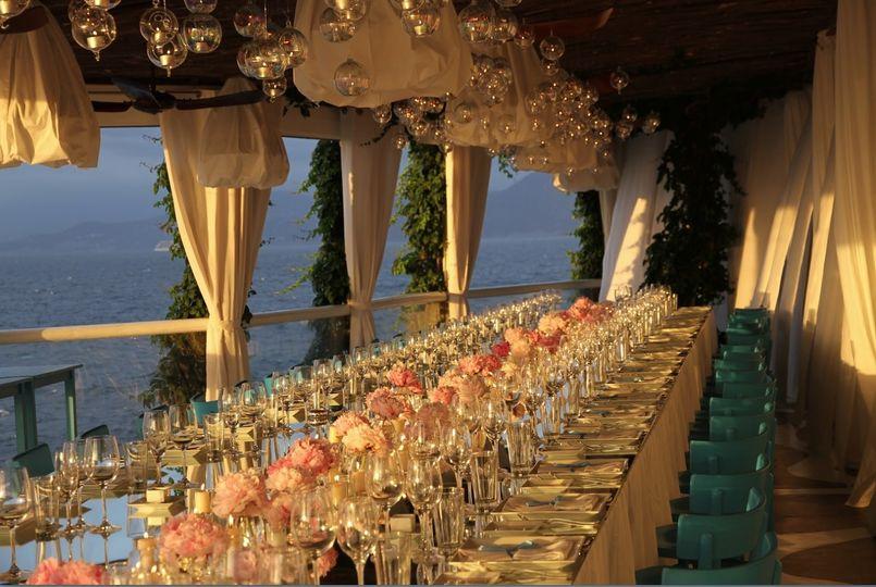 capri beach wedding