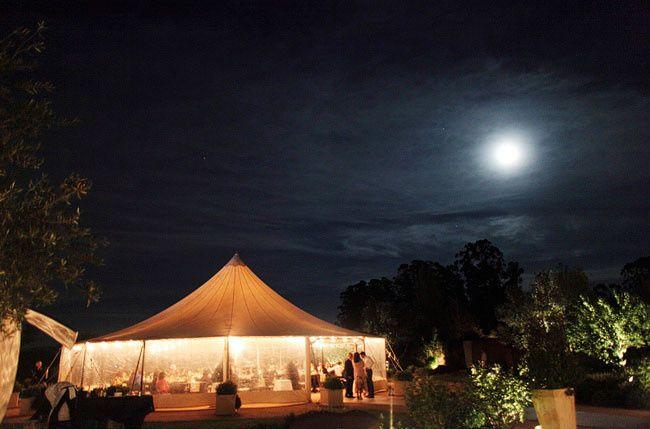 Pavilon tent reception area
