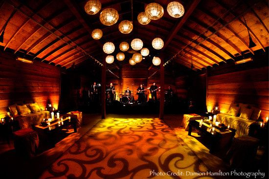 Dance floor with the band