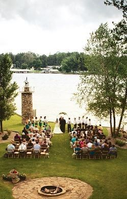 Outdoor wedding cermony