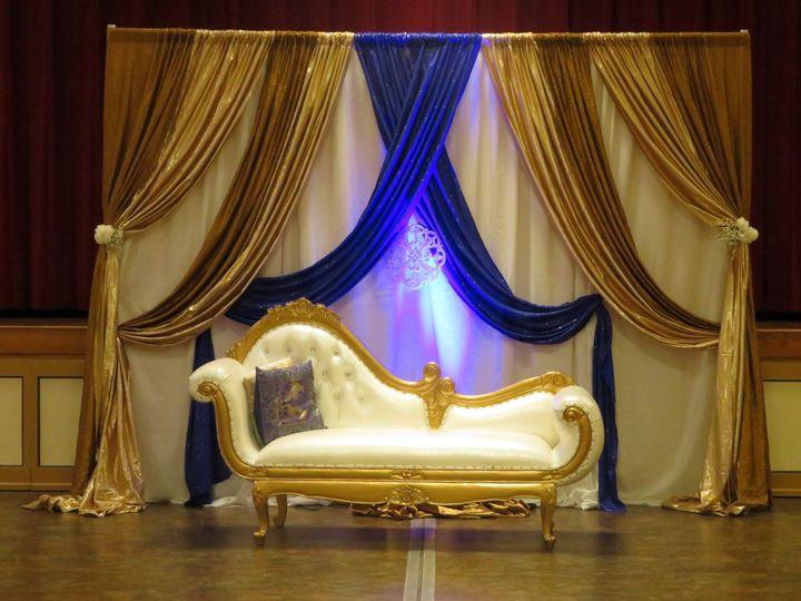 Blue/Gold w Sofa Backdrop