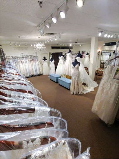 Our plus size bridal showroom!