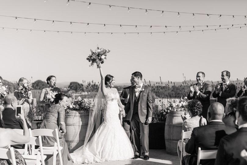 They are pronounced man and wife!  Such an amazing candid shot captured here on the East Terrace...