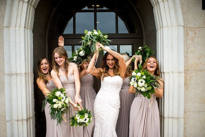 Christine and bridal party did not let the rain dampen their mood.  One of our favorite...
