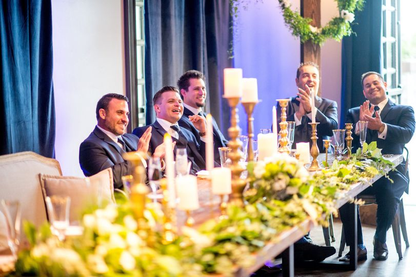 The reception took place in the Amor Fati room and guests enjoyed the moment as cheers were given...