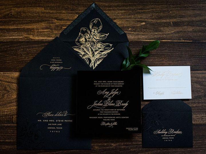 Tmx Black Calla Lily Acrylic Wedding Invitation 1 51 949084 158161048578541 Old Bridge, NJ wedding invitation