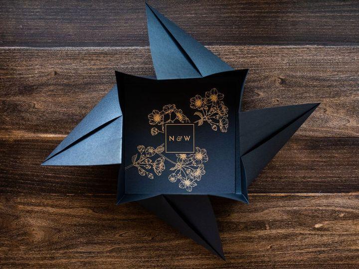 Tmx Bold Blossom Charcoal Origami Wedding Invitation 1 51 949084 158161048530816 Old Bridge, NJ wedding invitation