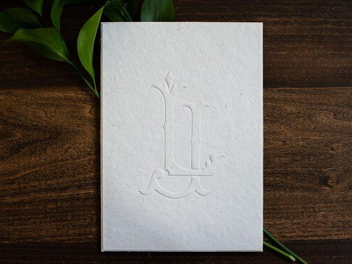 Tmx Embossed Monogram Pocket Folder Wedding Invitation1 51 949084 158161048645649 Old Bridge, NJ wedding invitation