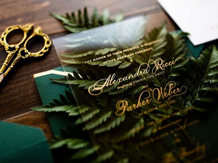 Tmx Emerald Boquet Acrylic Wedding Invitation 1 51 949084 158161048789985 Old Bridge, NJ wedding invitation