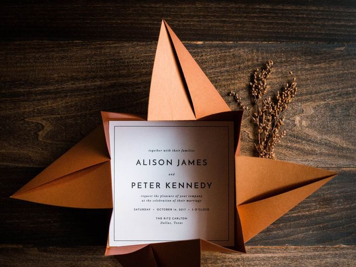 Tmx Modern Origami Wedding Invitations 51 949084 158161048798120 Old Bridge, NJ wedding invitation