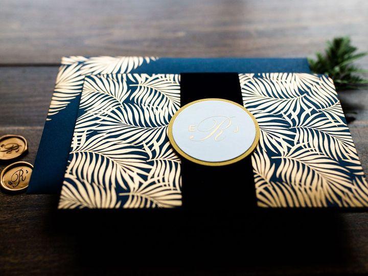 Tmx Palm Leaf Pocket Folder Wedding Invitation 1 1 51 949084 158161048772130 Old Bridge, NJ wedding invitation