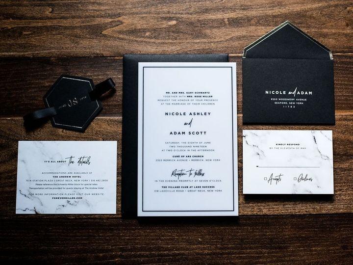 Tmx White Marble Acrylic Wedding Invitation 1 51 949084 158161048761939 Old Bridge, NJ wedding invitation