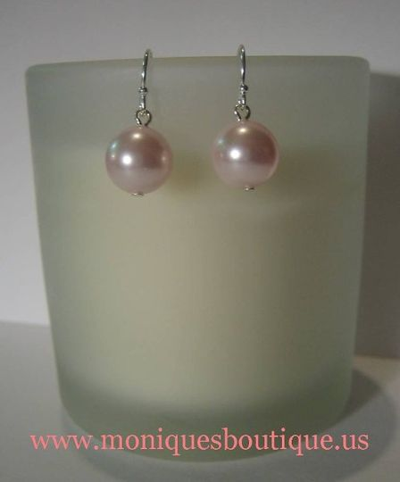 Single drop pearl earrings with Swarovski pearls and sterling silver metal. Your choice of pearl...