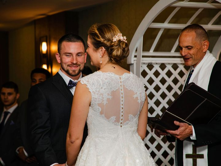 Tmx Ceremony Bride And Groom At Alter Archway 51 30184 Kulpsville, PA wedding venue
