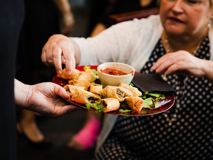 Tmx Food Buttlered Spring Rolls With Wedding Guest 51 30184 Kulpsville, PA wedding venue