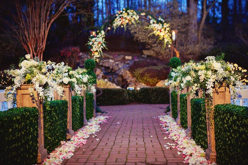 decorations for wedding ceremony gardens venue lawrenceville ga weddingwire 3434