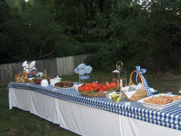 Outdoor buffet setting