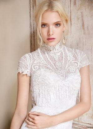 alvina valenta bridal embroidered lace fit n flare