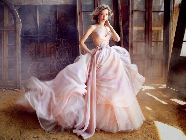 Tmx 1463186037390 Lazaro Bridal Silk Organza Ball Strapless Sweethea Rochester wedding dress