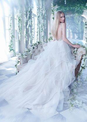 Tmx 1463186158468 Alvina Valenta Bridal Ball Gown Embroidered V Neck Rochester wedding dress