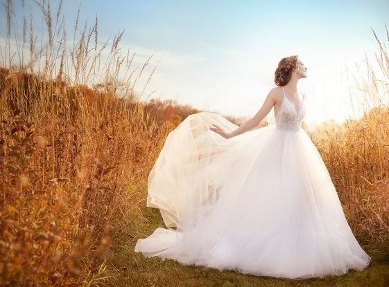 Tmx 1464737584880 Jim Hjelm Bridal Tulle Ball Sheer Sequin Embroider Rochester wedding dress