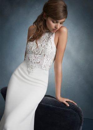Tmx 1464737618064 Tara Keely Bridal Sheath Venise Lace Bodice With J Rochester wedding dress
