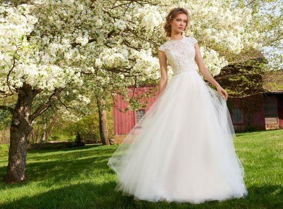 Tmx 1464737622149 Tara Keely Bridal Tulle Ball Beaded Illusion Cappe Rochester wedding dress