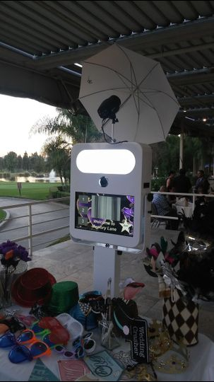 The Open Air Photo Booth is sleek, stylish and takes great pictures both indoors and outdoors.